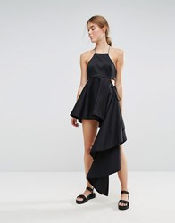 Weekday Press Collection Asymmetric Dress Black