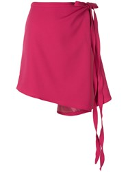 Y Project Asymmetric Wrap Skirt Pink And Purple