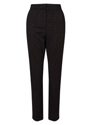 East Jacquard Trouser Black