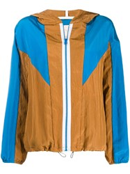 Tela Hooded Sports Jacket Brown