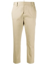 Dsquared2 Skinny Fit Cropped Chino Trousers 60