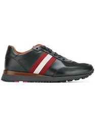 Bally Contrast Stripe Trainers Black