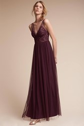 Anthropologie Brit Wedding Guest Dress Dark Purple