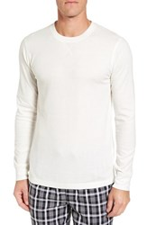 Nordstrom Men's Big And Tall Men's Shop Waffle Knit Long Sleeve T Shirt Ivory