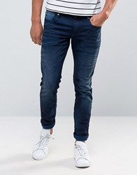 Scotch And Soda Faded Slim Fit Jeans Blue