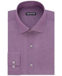 Unlisted By Kenneth Cole Men's Slim Fit Chambray Dress Shirt Boisenberry