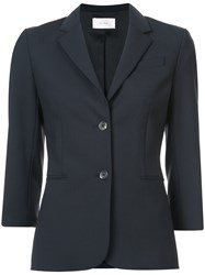 The Row Classic 3 4 Sleeve Single Breasted Blazer Blue