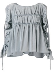 Carven Gathered Detail Blouse Grey