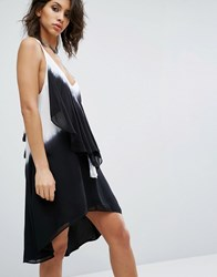 Religion Dress With Frill Detail In Ombre White
