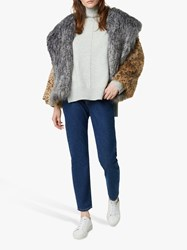 French Connection Blaire Faux Fur Hooded Coat Multi