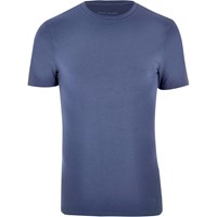 River Island Mens Navy Muscle Fit T Shirt