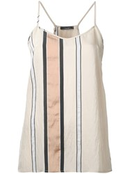 Roberto Collina Striped Tank Top Nude Neutrals