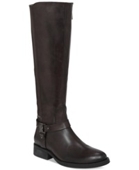 Vince Camuto Farren Wide Calf Riding Boots Women's Shoes Gray