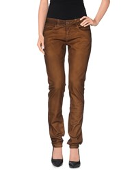 Manila Grace Denim Trousers Casual Trousers Women Brown