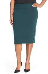 Halogen Sweater Knit Pencil Skirt Plus Size Green Ponderosa