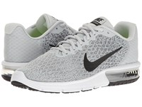 Nike Air Max Sequent 2 Pure Platinum Black Cool Grey Wolf Grey Women's Running Shoes White