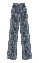 Bouguessa High Waisted Checkered Tweed Pants Black White