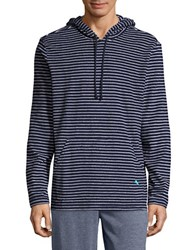 Tommy Bahama Striped Long Sleeve Hoodie Navy