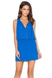 Eight Sixty Solid Shirtdress Blue