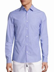 Michael Kors Slim Fit Cowan Button Down Shirt Light Blue