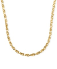 Macy's 3Mm Rope Chain 24' Necklace In 14K Gold