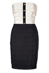 Moschino Two Tone Strapless Dress