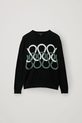 Cos Lightweight Cotton Knit Sweater Black