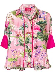 F.R.S For Restless Sleepers Floral Print Pyjama Top Pink And Purple
