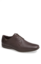Camper 'Mauro' Plain Toe Derby Men Brown Leather
