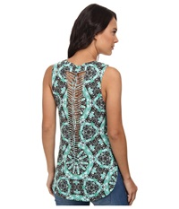 Vans Shaded And Braided Tunic Tank Top Sea Green Women's Sleeveless