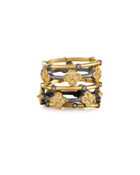 Freida Rothman Cz Crystal Clover Stacking Rings No Color