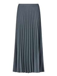 Jigsaw Pleated Midi Skirt Grey