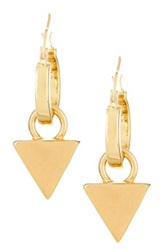 Boy Meets Girl Pyramid Drop Hoop Earrings No Color