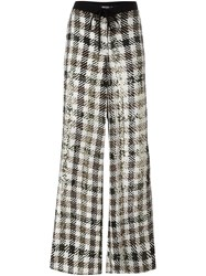 P.A.R.O.S.H. Checked Palazzo Pants Black