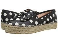 Kate Spade Linds Black White Polka Dot Nappa Women's Shoes