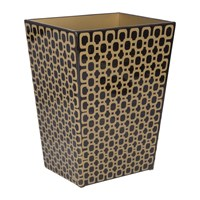 Mike Ally Meurice Waste Bin Carved Chestnut Gold