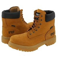Timberland Direct Attach 6 Soft Toe Wheat Nubuck Leather Men's Work Lace Up Boots Tan