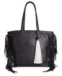 Sam Edelman Circus By Weston Fringe Tote Black