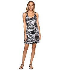 Lucky Brand Global Dress Cover Up Black Women's Swimwear