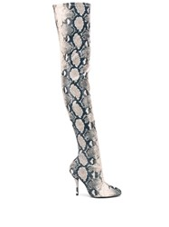 Stuart Weitzman Shiloh Python Effect Over The Knee Boots 60