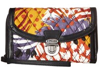 Vera Bradley Ultimate Wristlet Painted Feathers Clutch Handbags Multi
