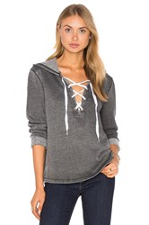 The Laundry Room Lattice Hoodie Gray