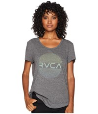 Rvca Hits Short Sleeve Tee Heather Grey T Shirt Gray