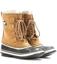 Sorel 1964 Pac 2 Leather And Rubber Boots Brown
