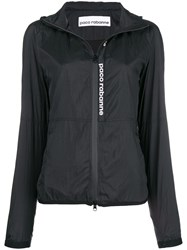 Paco Rabanne Logo Raincoat Black
