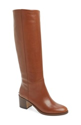 Kate Spade 'Mireille' Knee High Boot Women Brown Leather