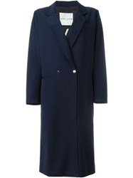 Each X Other Double Breasted Long Coat Blue