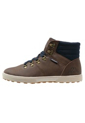 Kappa Pine Hightop Trainers Brown Navy