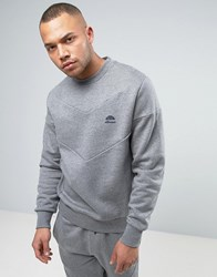 Ellesse Italia Sweatshirt With Chevron Panel Grey