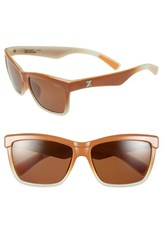 Women's Zeal Optics 'Kennedy' 56Mm Polarized Plant Based Retro Sunglasses Kennedy Abbey Mint